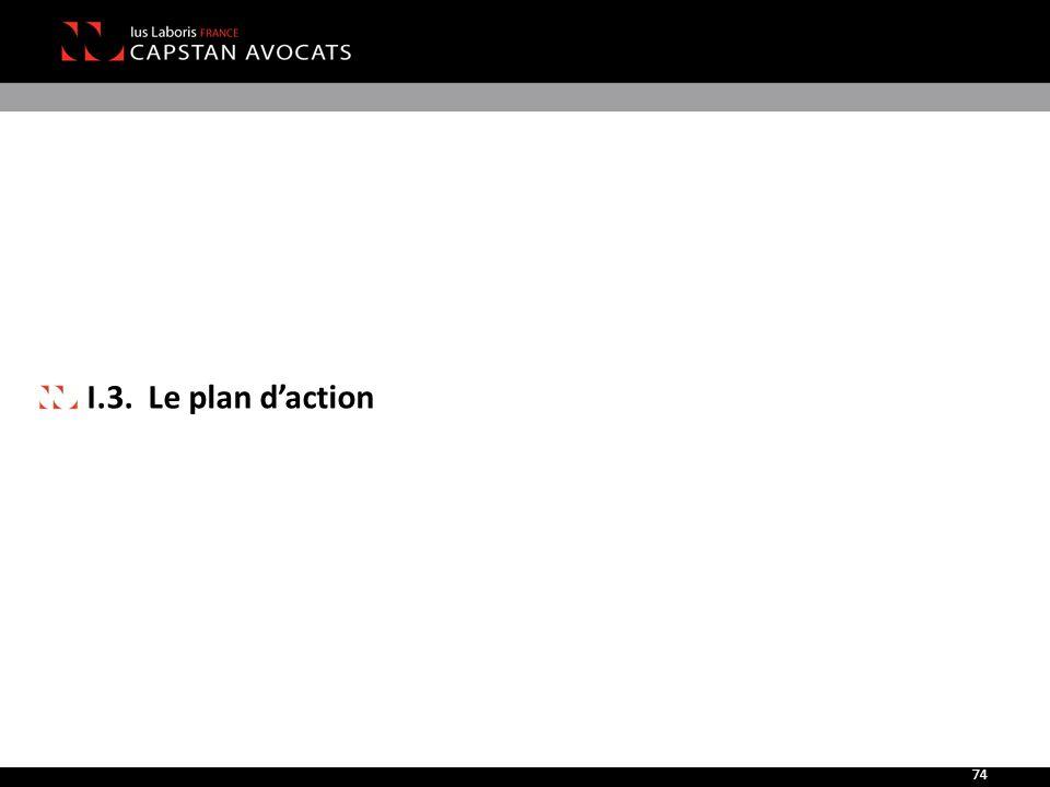 I.3. Le plan d'action 74