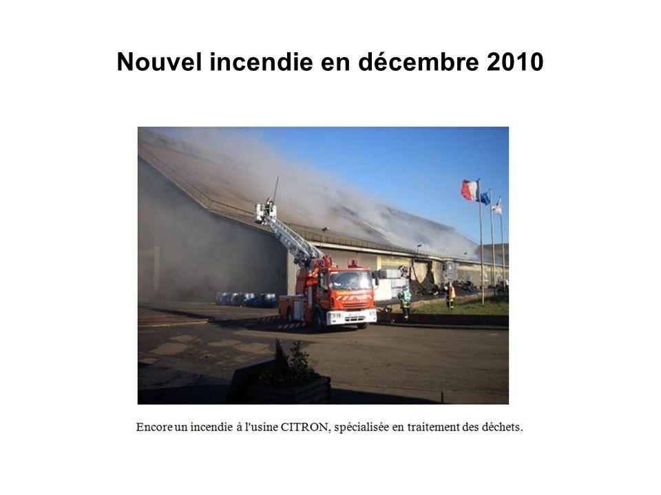 Nouvel incendie en décembre 2010