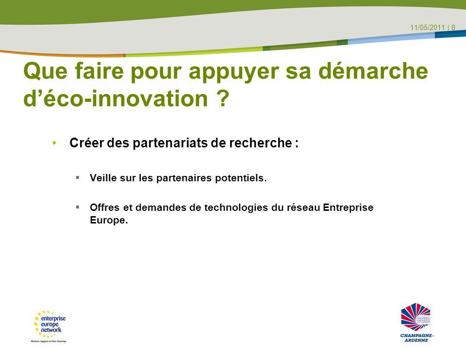 Que faire pour appuyer sa démarche d'éco-innovation .