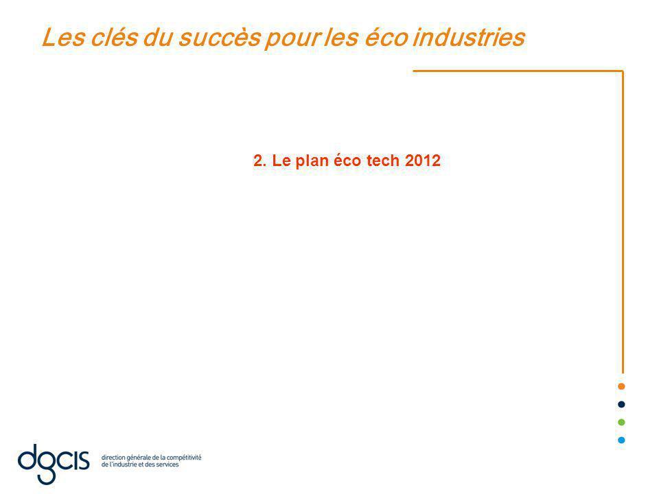 Les clés du succès pour les éco industries 2. Le plan éco tech 2012