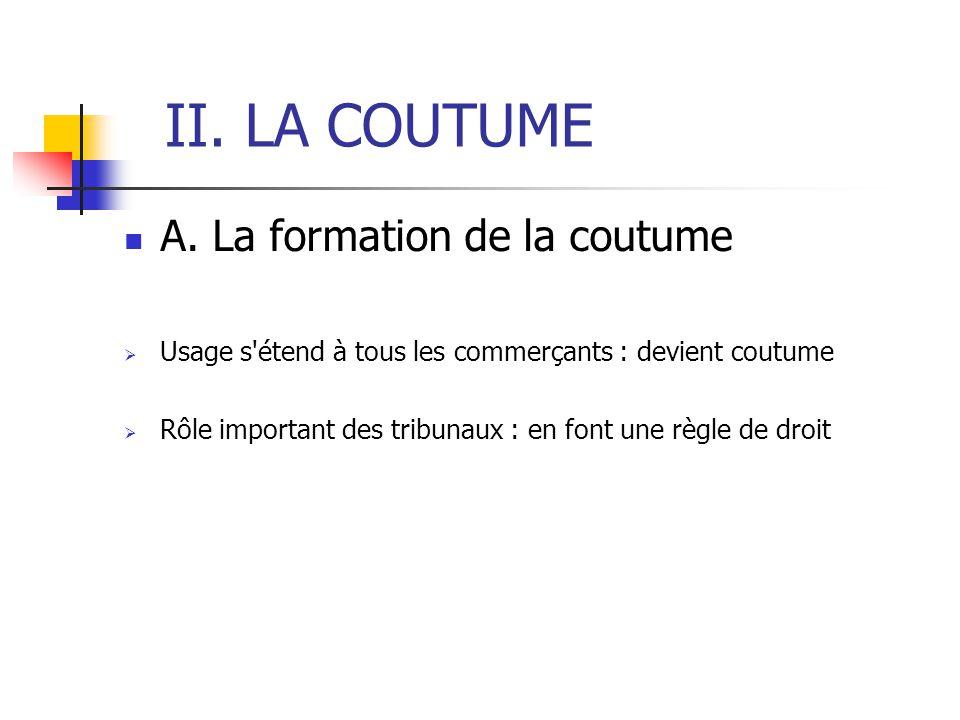 II. LA COUTUME A.