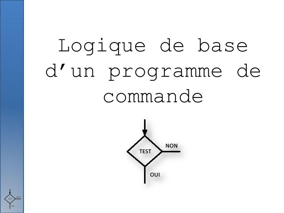 Logique de base d'un programme de commande
