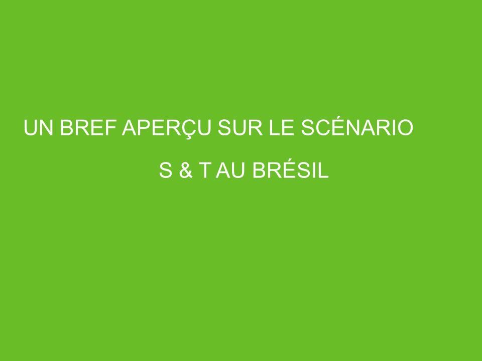UN BREF APERÇU SUR LE SCÉNARIO S & T AU BRÉSIL