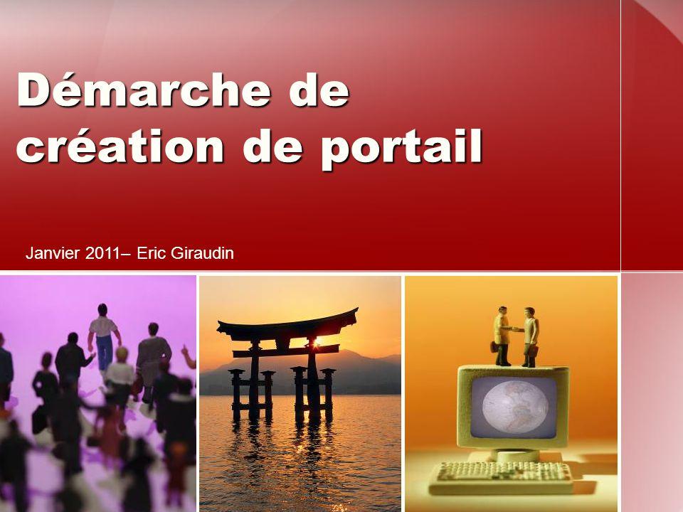 Démarche de création de portail Janvier 2011– Eric Giraudin