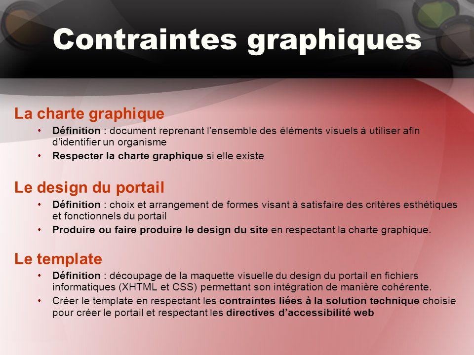 Contraintes graphiques La charte graphique Définition : document reprenant l'ensemble des éléments visuels à utiliser afin d'identifier un organisme R