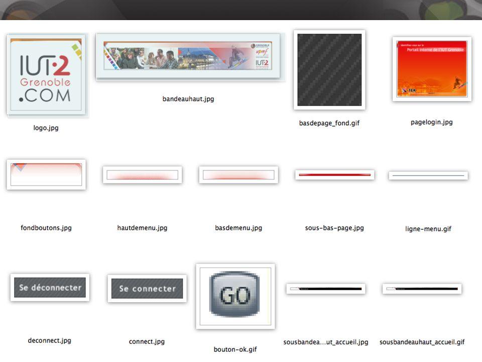 3. Production du site Exemple : Fichiers découpés