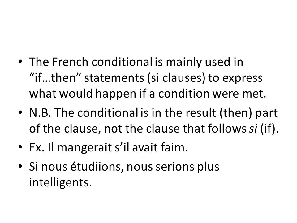 Vouloir The verb vouloir is used in the conditional to express a polite request.