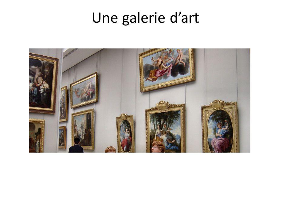 Une galerie d'art