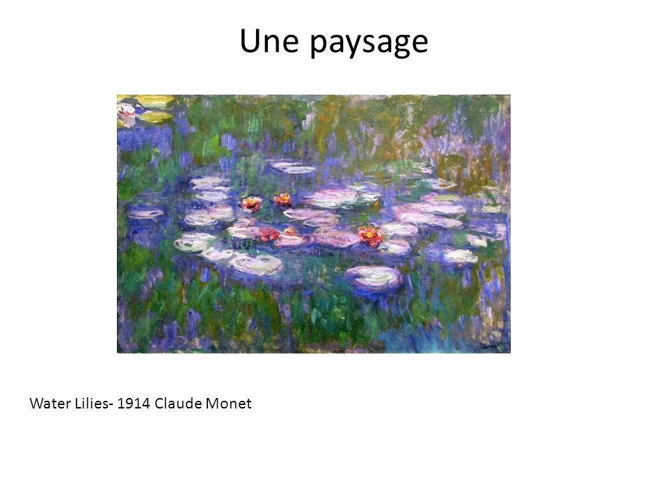 Une paysage Water Lilies- 1914 Claude Monet