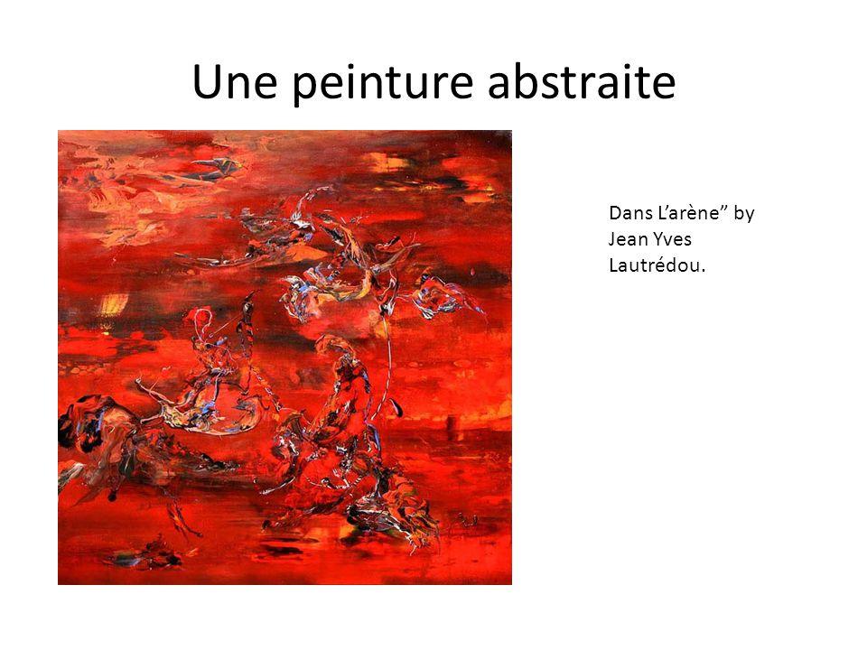 """Une peinture abstraite Dans L'arène"""" by Jean Yves Lautrédou."""