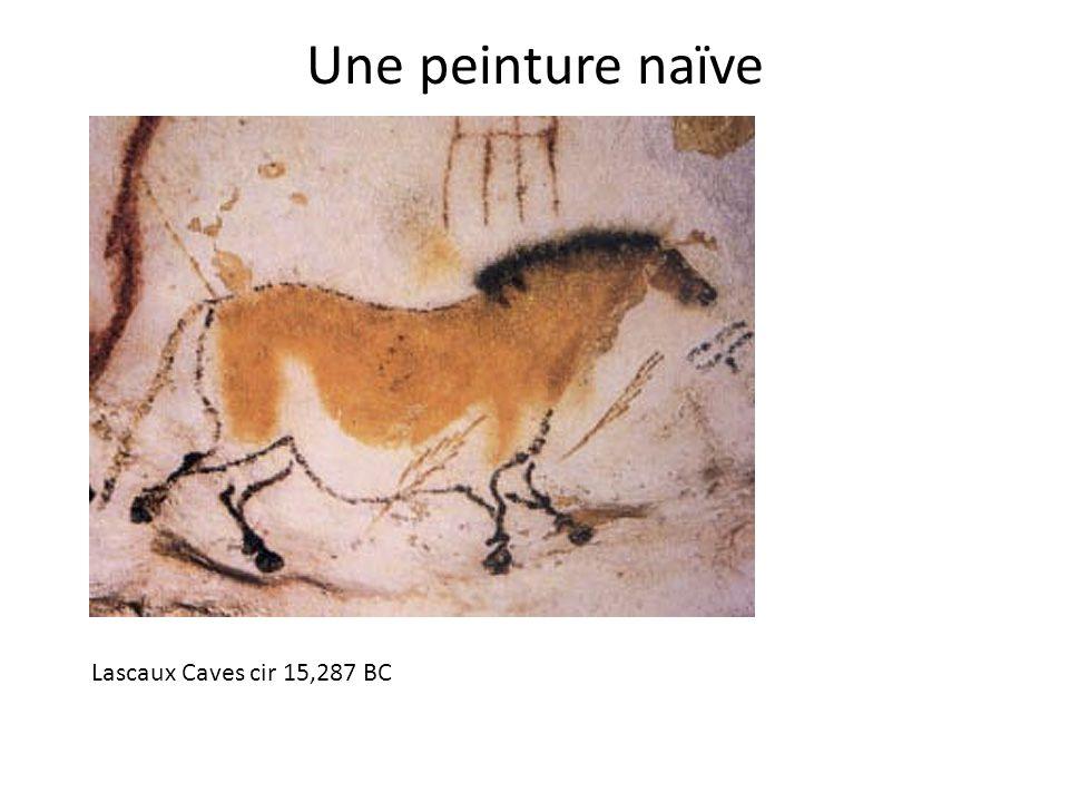 Une peinture naïve Lascaux Caves cir 15,287 BC