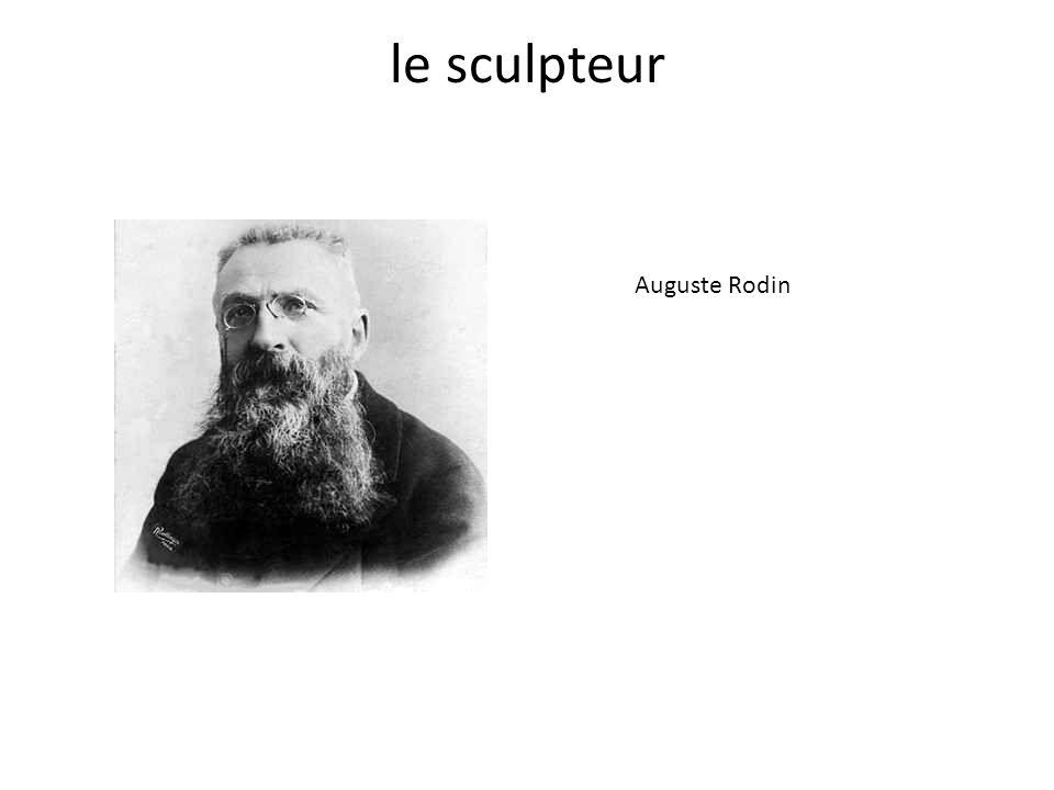 le sculpteur Auguste Rodin