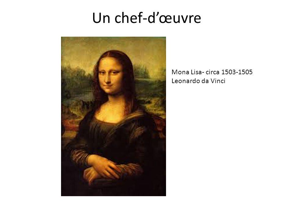 Un chef-d'œuvre Mona Lisa- circa 1503-1505 Leonardo da Vinci
