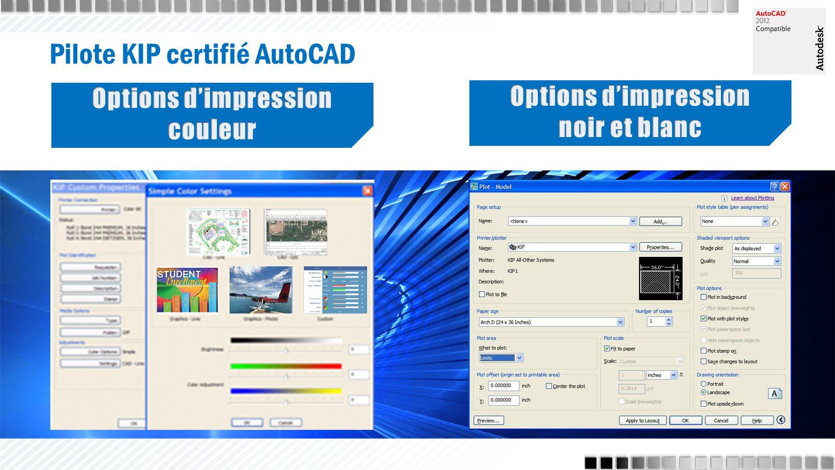 Pilote KIP certifié AutoCAD