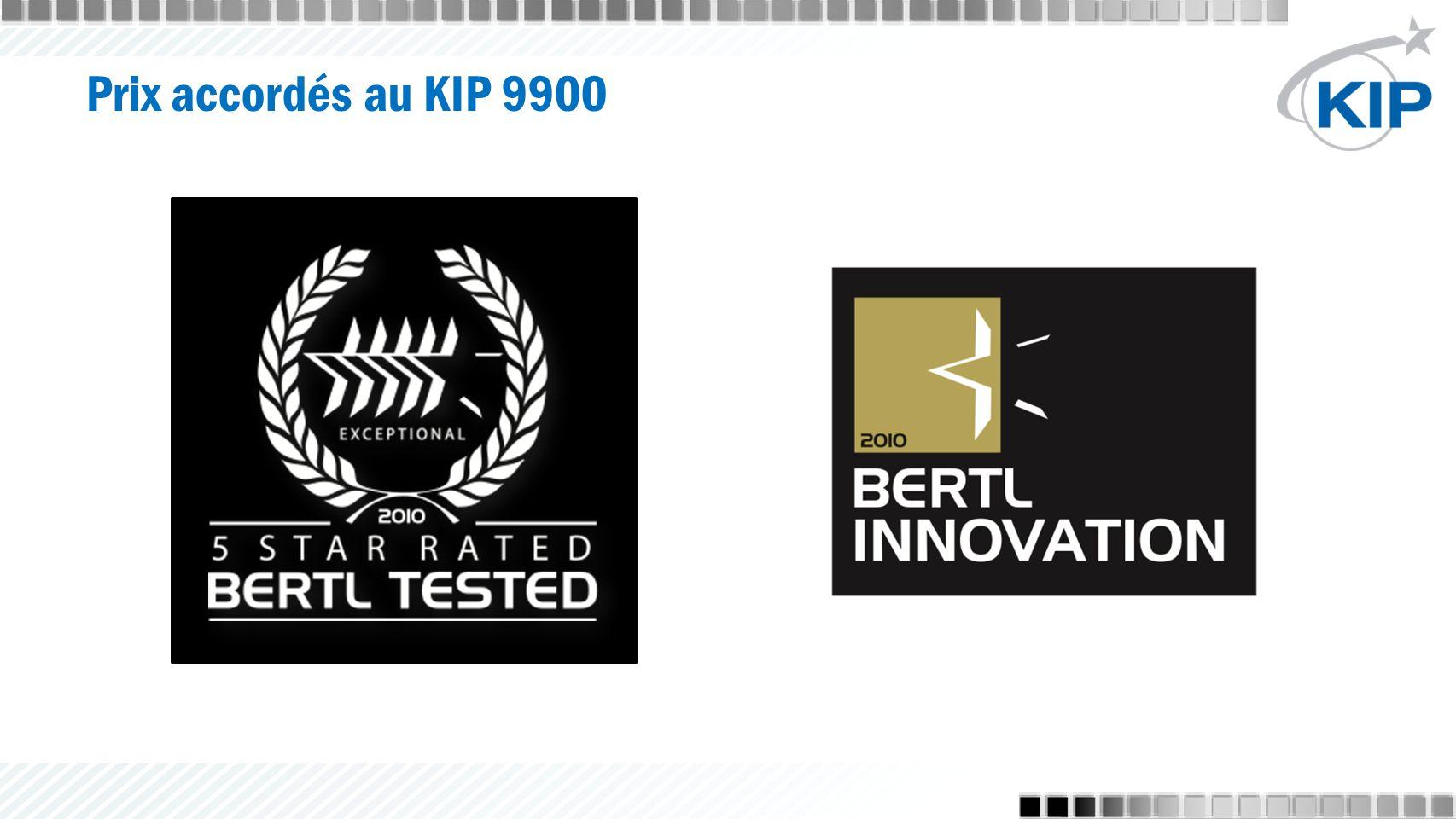 Prix accordés au KIP 9900