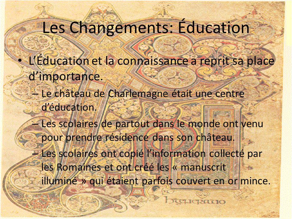 Les Changements: Éducation L'Éducation et la connaissance a reprit sa place d'importance.