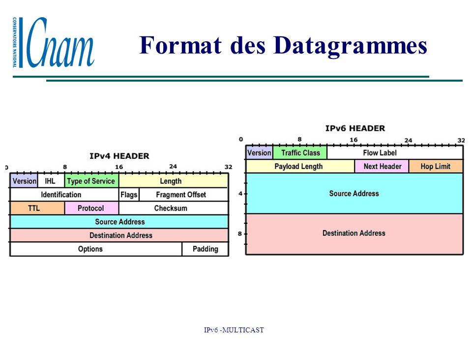 IPv6 -MULTICAST Format des Datagrammes