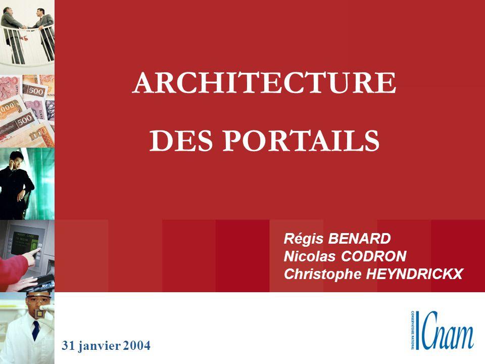 Régis BENARD Nicolas CODRON Christophe HEYNDRICKX ARCHITECTURE DES PORTAILS 31 janvier 2004
