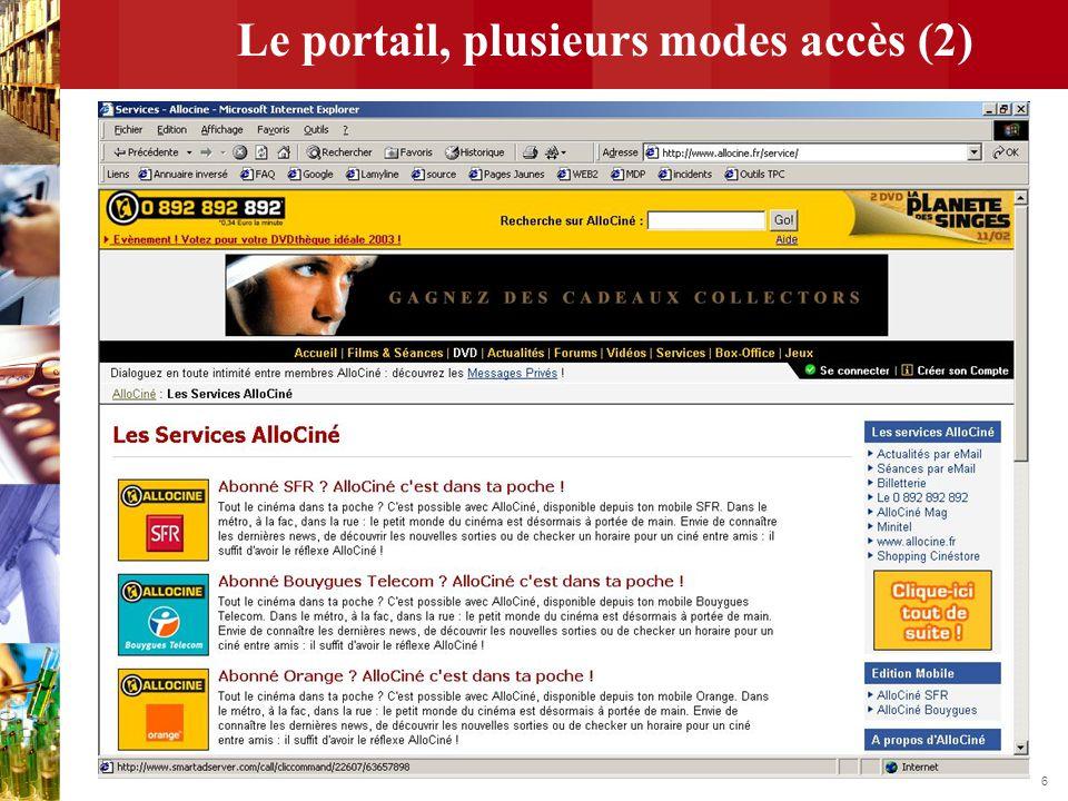6 Le portail, plusieurs modes accès (2)