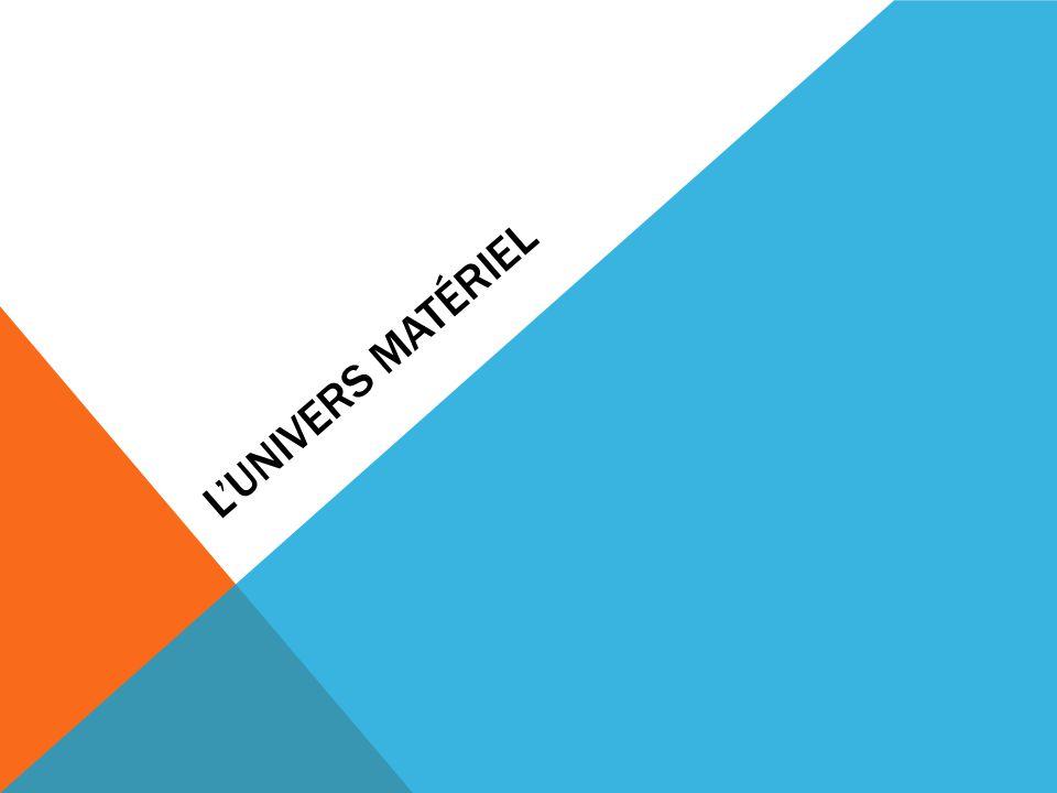 L'UNIVERS MATÉRIEL
