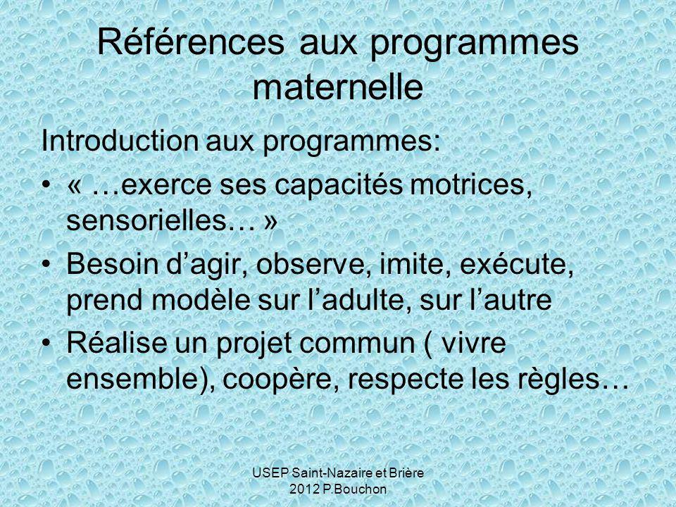 USEP Saint-Nazaire et Brière 2012 P.Bouchon Exemple de progression