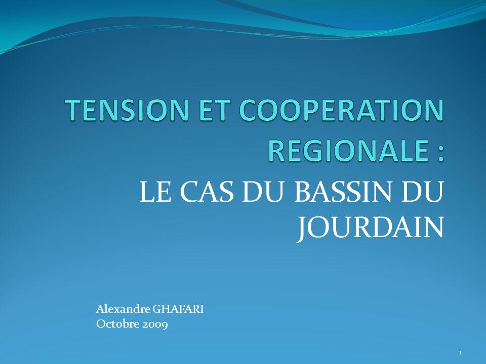 LE CAS DU BASSIN DU JOURDAIN 1 Alexandre GHAFARI Octobre 2009