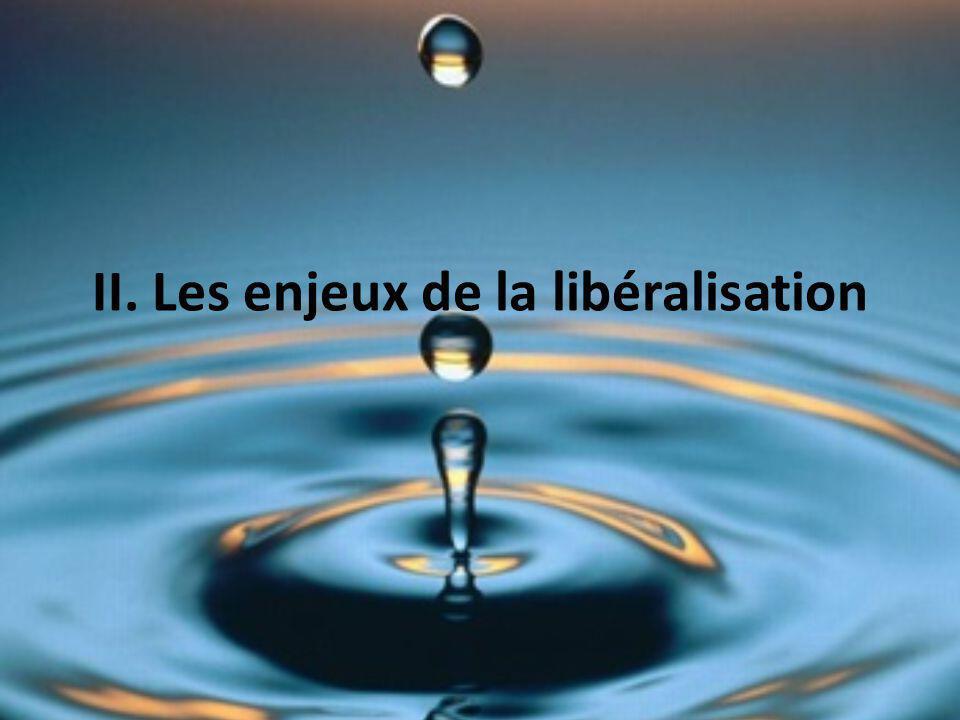 II. Les enjeux de la libéralisation
