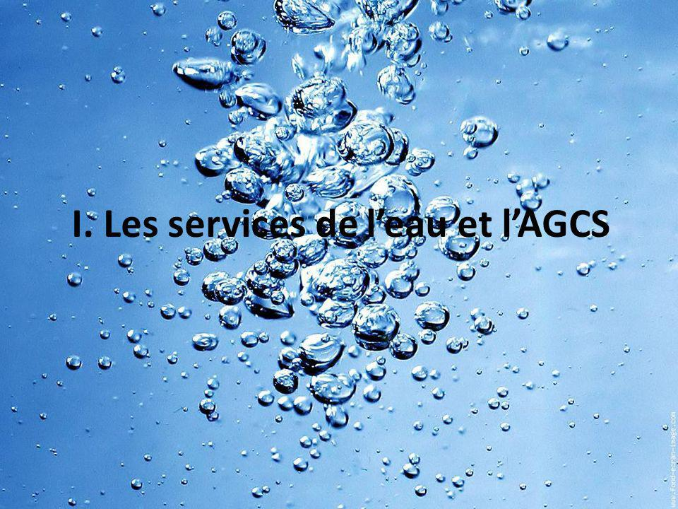 I. Les services de l'eau et l'AGCS