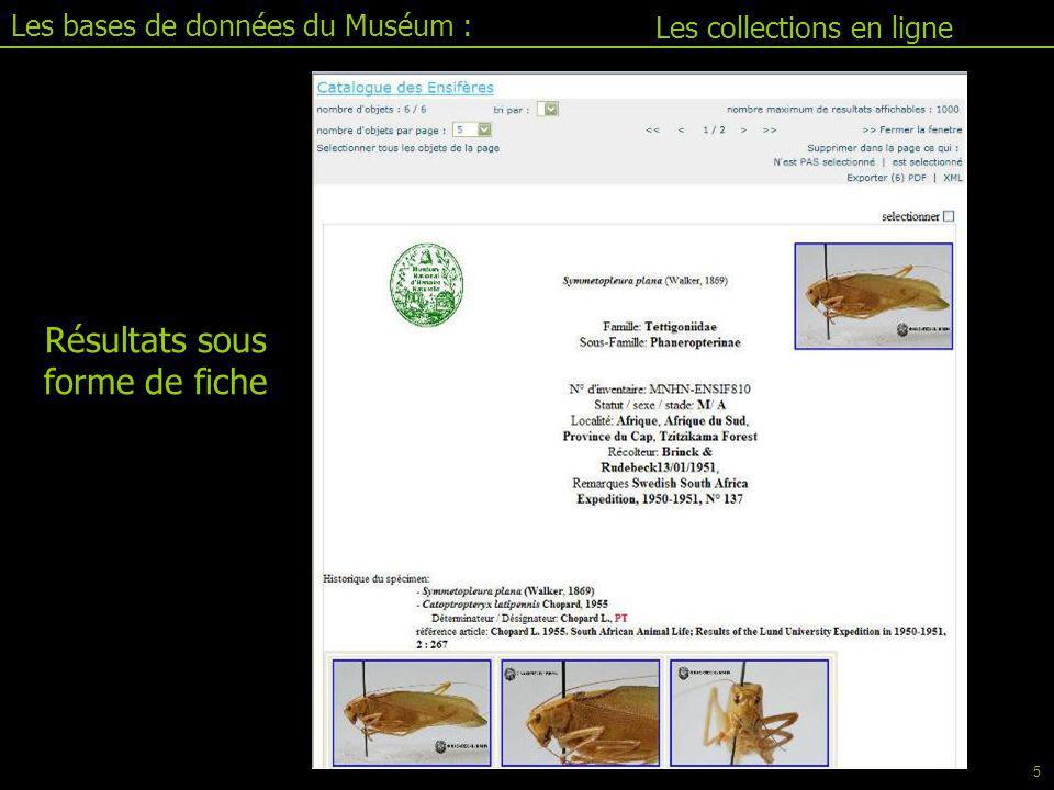 Les bases de données du Muséum : Personnaliser son document Aide Jacim II.1 : le configurateur 26