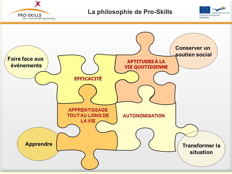 Les compétences de la vie sont liées au sentiment d'autonomie « processus grâce auquel une personne augmente son contrôle sur les événements qui ont un impact sur sa vie ».
