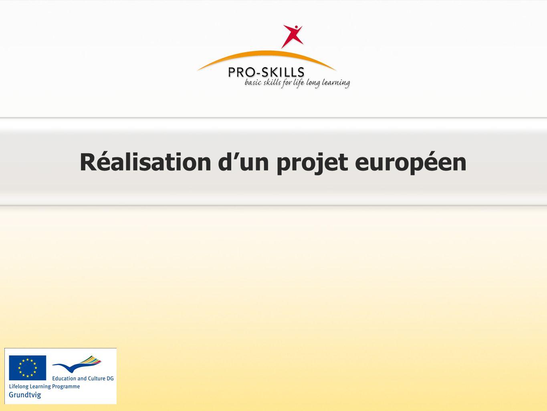 Réalisation d'un projet européen