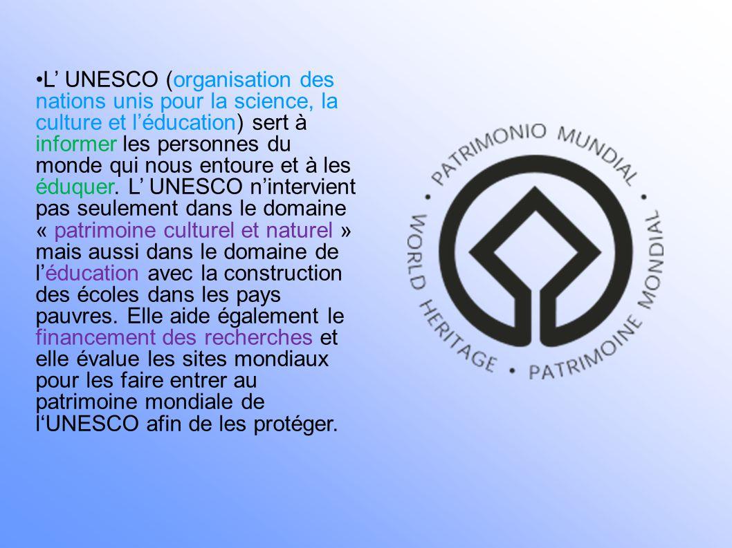 Les domaines d interventions de l UNESCO dans l Océan Indien 1.Culture 2.Catastrophes naturelles 3.Patrimoine mondial