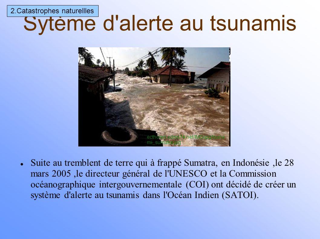 appareil qui sert à mesurer le niveau des marées Des sismographes ont été installés dans l'Océan Indien pour prévenir des catastrophes naturelles(Madagascar en avril 2008,la Réunion et de Canberra en 2007).