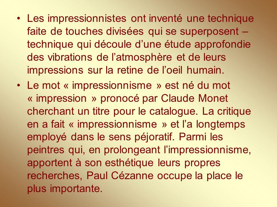 Paul Cézanne 1839-1906 Paul Cézanne fait ses études à l'Ecole des beaux-arts à Paris.