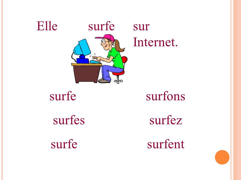 Ellesurfesur Internet. surfesurfons surfessurfez surfesurfent