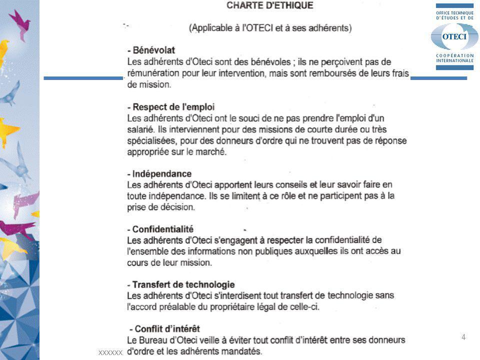 Notre ambition: Se rendre utiles à la collectivité en faisant profiter les PME, les Universités et Grandes Ecoles et les agences de développement de notre savoir-faire Et de notre expérience xxxxxxxx OTECI Rhône-Alpes - xxxxxxxxx 15 janvier 2013 5