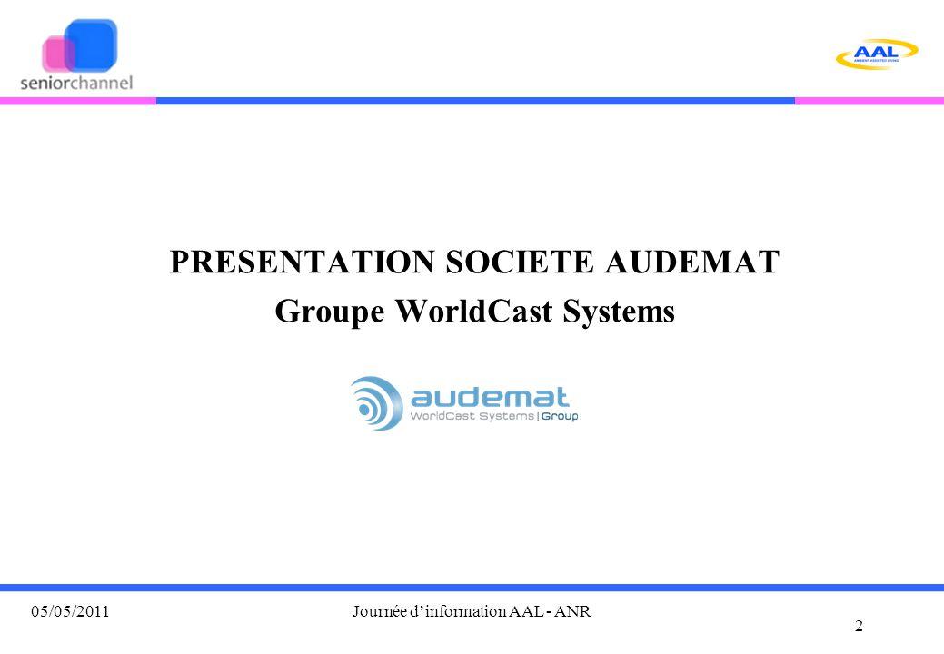 AUDEMAT, du groupe WorldCast Systems Concevoir et commercialiser avec des process qualité, des produits INNOVANTS pour le monde de la télé et radiodiffusion.