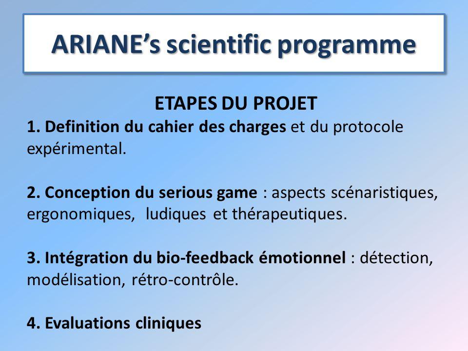 ARIANE's scientific programme ETAPES DU PROJET 1.