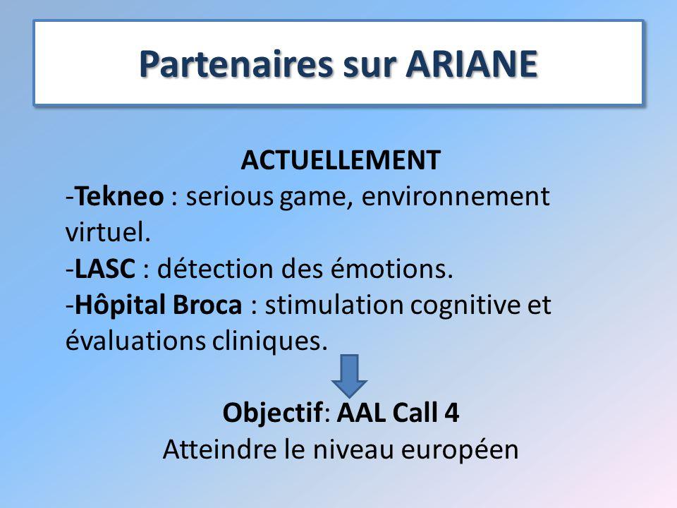 Partenaires sur ARIANE ACTUELLEMENT -Tekneo : serious game, environnement virtuel.