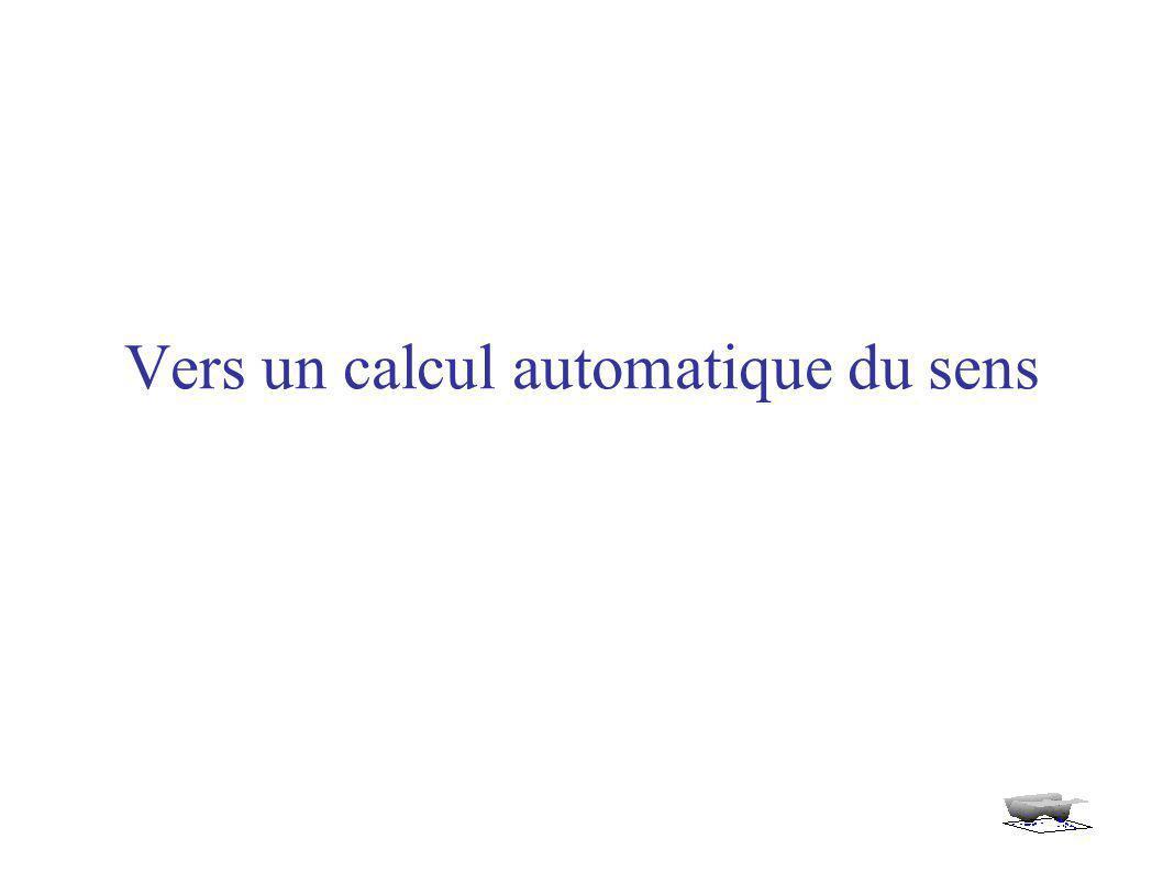 Vers un calcul automatique du sens