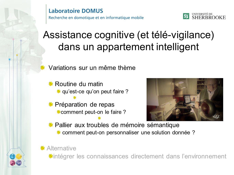 Assistance cognitive (et télé-vigilance) dans un appartement intelligent Variations sur un même thème Routine du matin qu'est-ce qu'on peut faire .