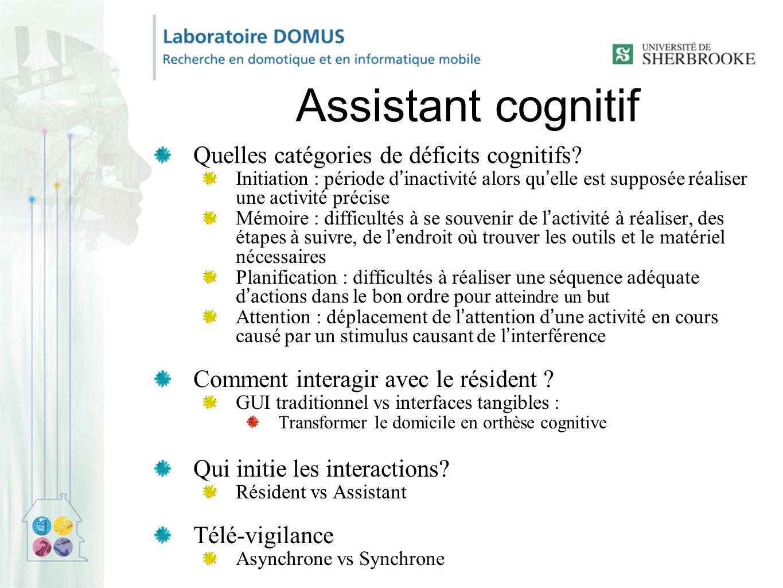 Assistant cognitif Quelles catégories de déficits cognitifs.