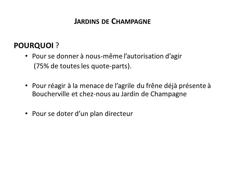 J ARDINS DE C HAMPAGNE POURQUOI .