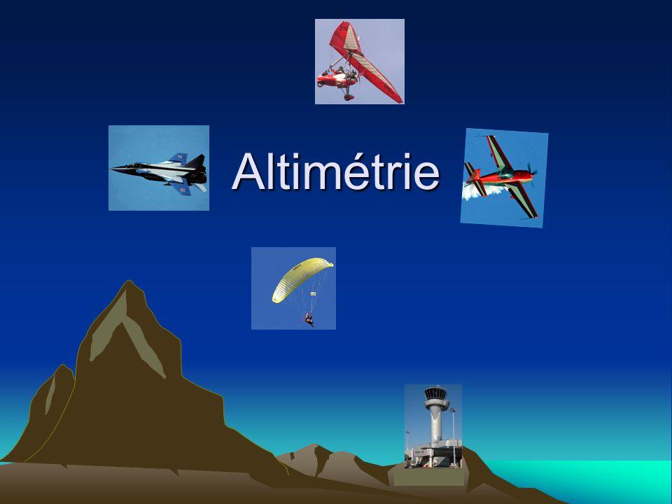Altimétrie Moyen de mesure Pression atmosphérique Altimètre Langage commun Calage altimétrique Règle de la semi circulaire