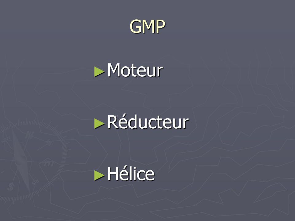 GMP ► Moteur ► Réducteur ► Hélice