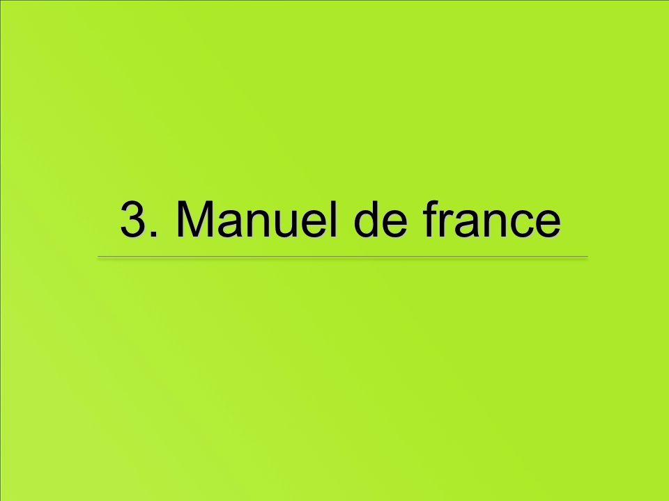 3. Manuel de france