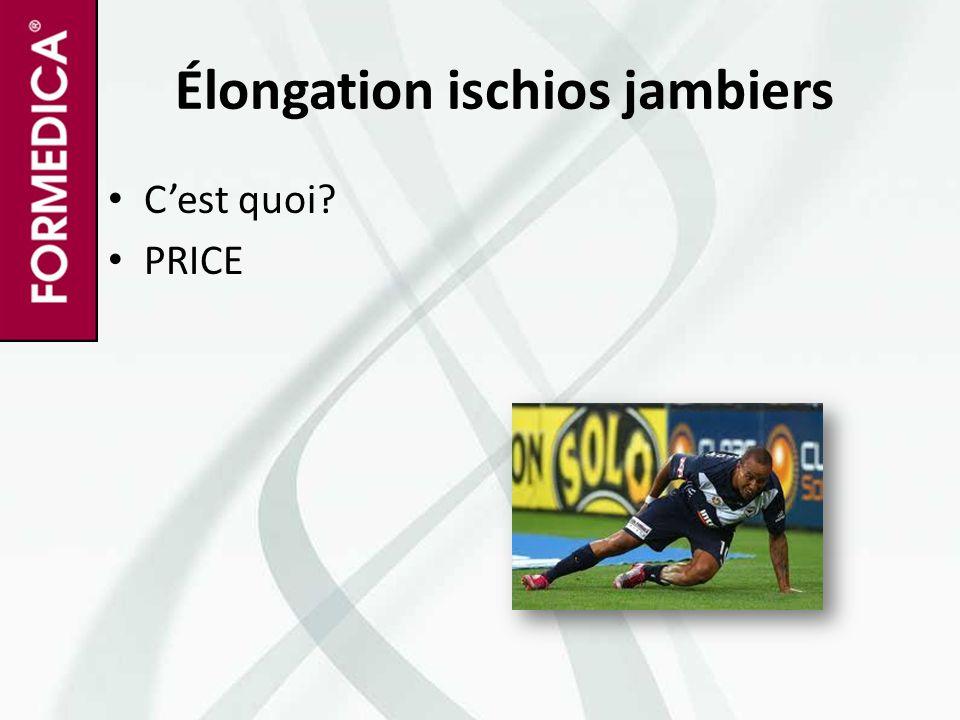 Élongation ischios jambiers C'est quoi? PRICE