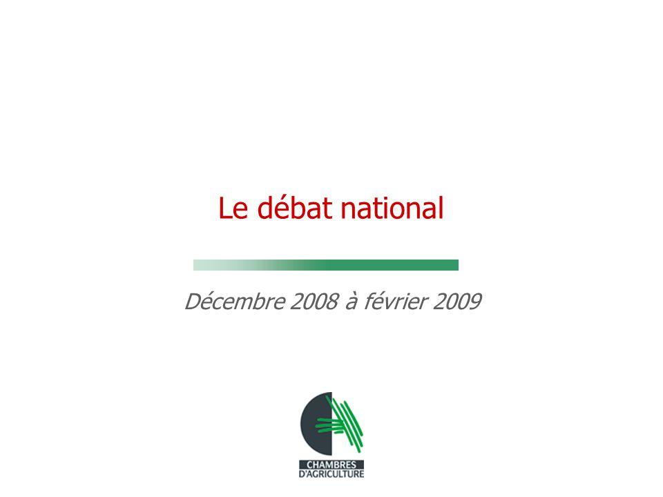 Le débat national Décembre 2008 à février 2009