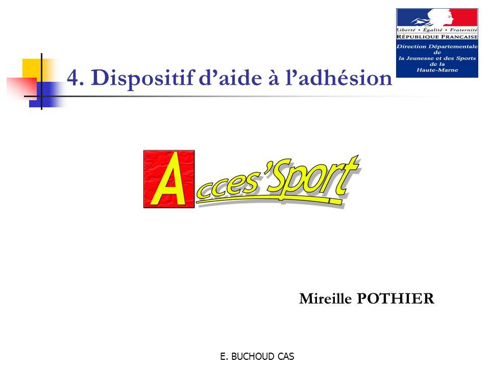 E. BUCHOUD CAS 4. Dispositif d'aide à l'adhésion Mireille POTHIER