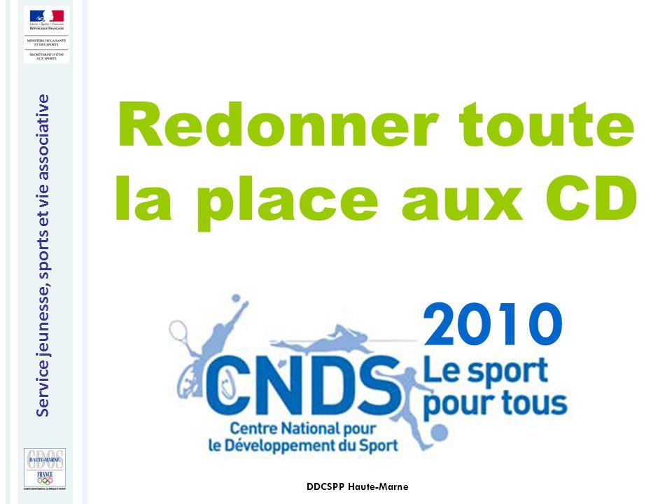 Service jeunesse, sports et vie associative DDCSPP Haute-Marne Redonner toute la place aux CD 2010